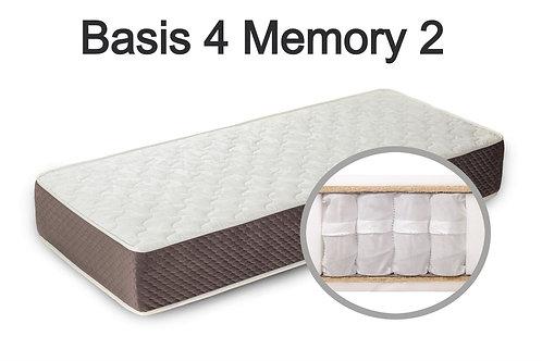 """""""Basis 4 Memory 2"""". Вес до 120 кг.  Высота 21 см.  Жесткость средняя."""
