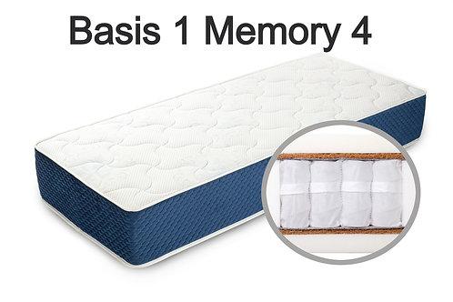 """""""Basis 1 Memory 4"""". Вес до 120 кг.  Высота 25 см.  Жесткость средняя."""
