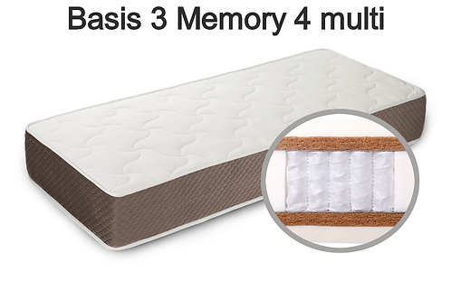 Basis 3 Memory 4 multi Вес до 140 кг. Высота 30 см. Жёсткость жёсткий.