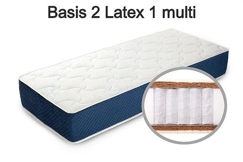 Basis 2 Latex 1 multi Вес до 140 кг. Высота 22 см. Жесткость выше средней.