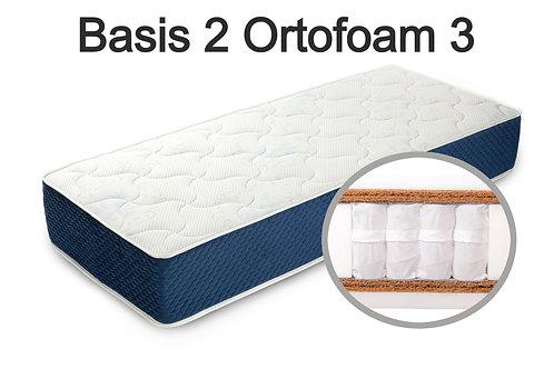 """""""Basis 2 Ortoform 3"""". Вес до 120 кг.  Высота 25 см.  Жесткость выше средней."""