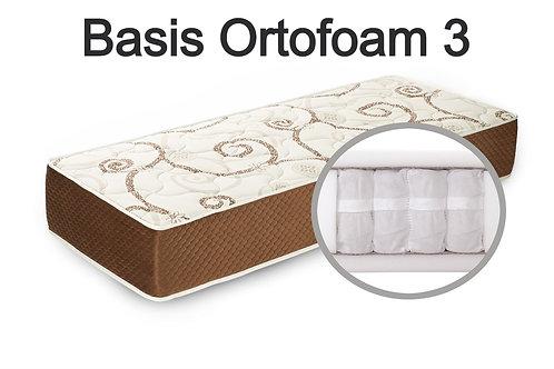"""""""Basis Ortofoam 3"""". Вес до 120 кг.  Высота 21 см.  Жесткость низкая."""