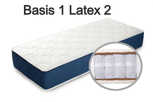 """""""Basis 1 Latex 2"""". Жесткость ниже средней  Вес до 120 кг  Высота 22 см"""
