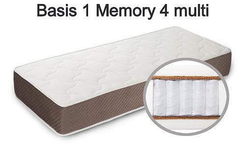 Basis 1 Memory 4 multi Вес до 140 кг. Высота 26 см. Жесткость средняя.