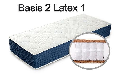 """""""Basis 2 Latex 1"""". Вес до 120 кг.  Высота 21 см.  Жесткость выше средней."""