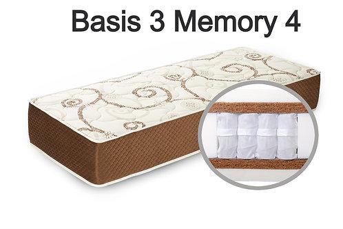 """""""Basis 3 Memory 3"""". Вес до 140 кг.  Высота 29 см.  Жесткость высокая."""