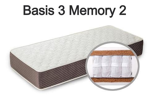 """""""Basis 3 Memory 2"""". Вес до 120 кг.  Высота 25 см.  Жесткость высокая."""
