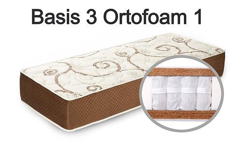 """""""Basis 3 Ortofoam 1"""". Вес до 120 кг.  Высота 23 см.  Жесткость высокая."""