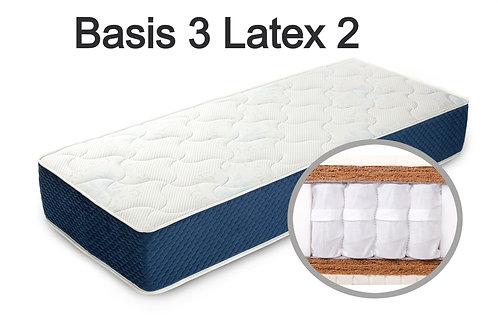 """""""Basis 3 Latex 2"""". Вес до 120 кг.  Высота 25 см.  Жесткость высокая."""