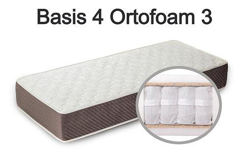"""""""Basis 4 Ortofoam 3"""". Вес до 120 кг.  Высота 23 см.  Жесткость средняя."""