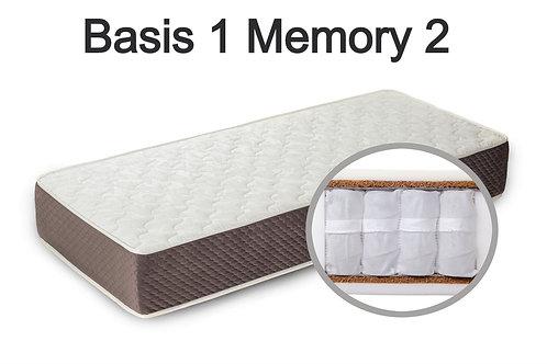 """""""Basis 1 Memory 2"""". Вес до 120 кг.  Высота 22 см.  Жесткость средняя."""