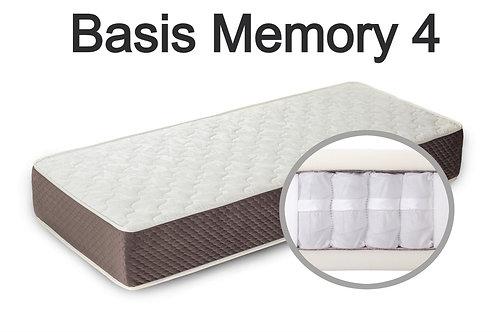 """""""Basis Memory 4"""". Вес до 120 кг.  Высота 23 см.  Жесткость низкая."""