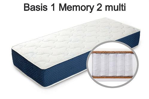 Basis 1 Memory 2 multi Вес до 140 кг. Высота 22 см. Жесткость средняя.