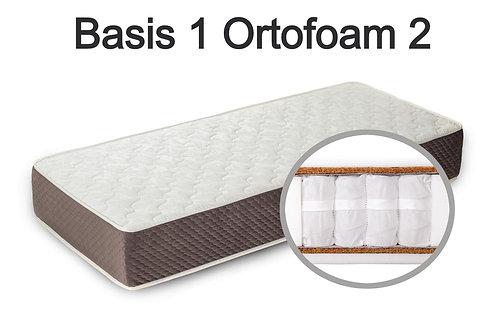 """""""Basis 1 Ortofoam 2"""". Вес до 120 кг.  Высота 21 см.  Жесткость средняя."""