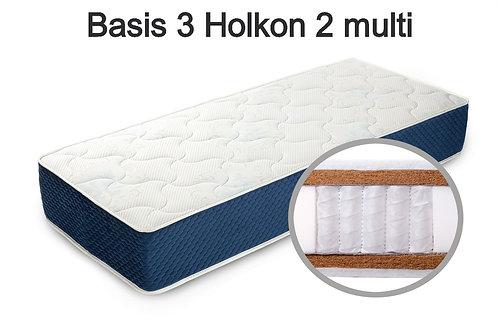 Basis 3 Holkon 2 multi Вес до 140 кг. Высота 26 см. Жёсткость жёсткий.