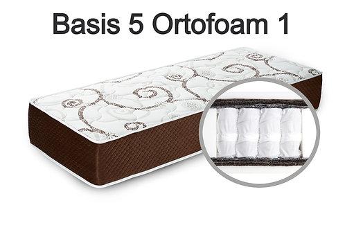 """""""Basis 5 Ortofoam 1"""". Жесткость средняя  Вес до 120 кг  Высота 20 см"""