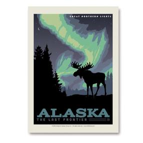 26055SK AK Northern Lights Moose