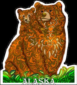Sunset Bears sticker decal