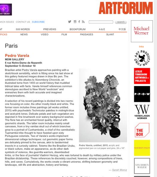 Artforum, setembro de 2015