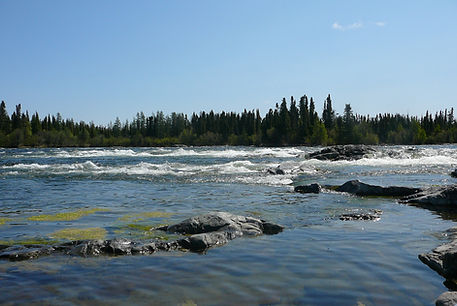 White Water Area of River