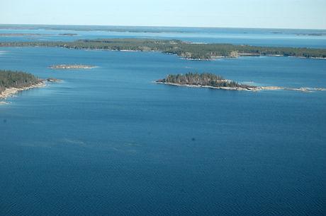 Gods River Aerial Photo