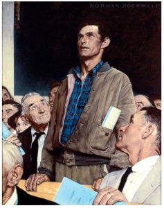 """Four Freedoms"" - Norman Rockwell"