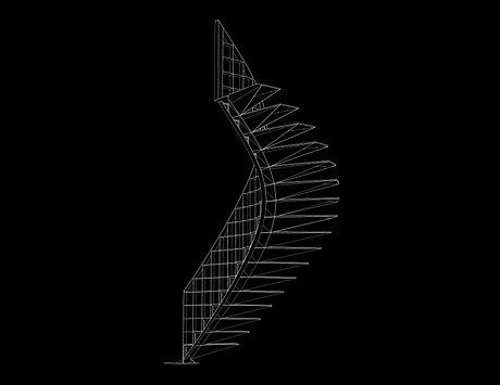 Marylebone stairs wireframe