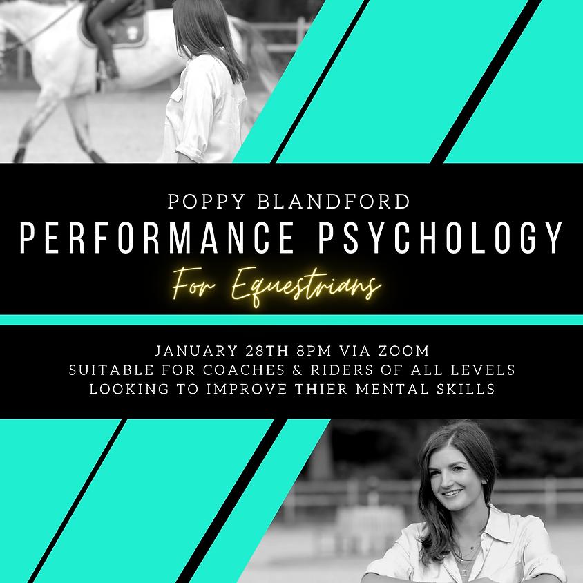 WEBINAR: Equestrian Performance Psychology with Poppy Blandford