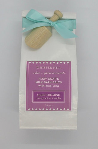 rose geranium + vanilla bath salts - 16 oz