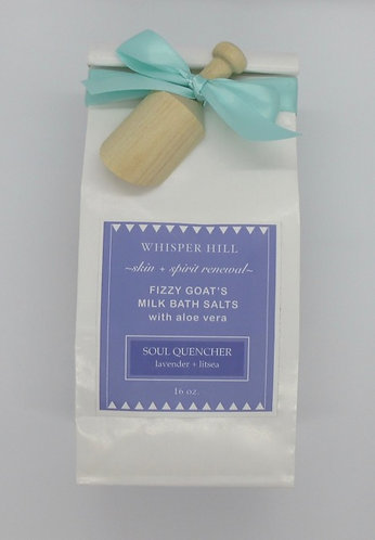 lavender + litsea bath salts - 16 oz