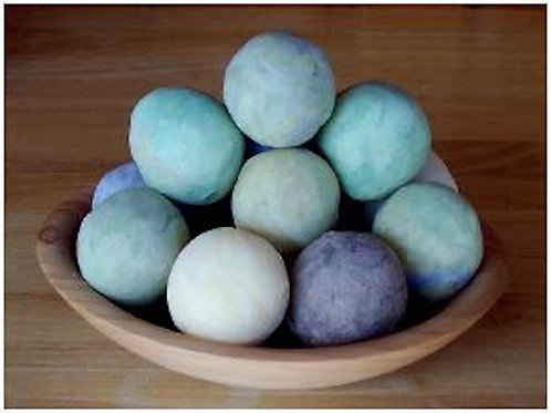 Natural olive oil soap balls.
