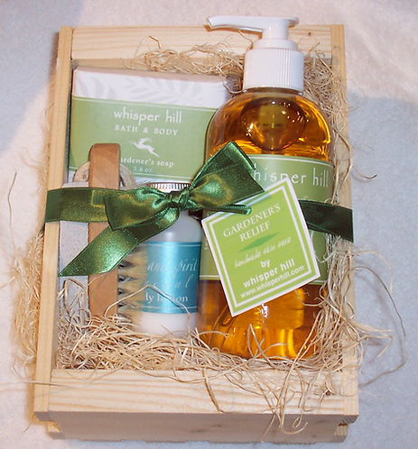 Gift crate for the gardener - natural products