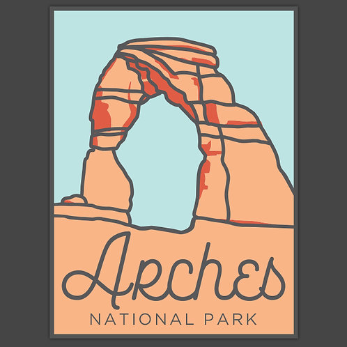 Arches Decal