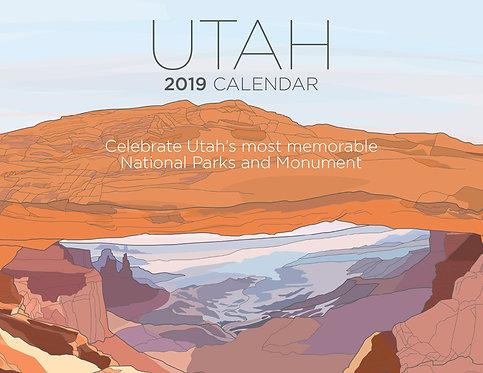 Utah 2019 Calendar