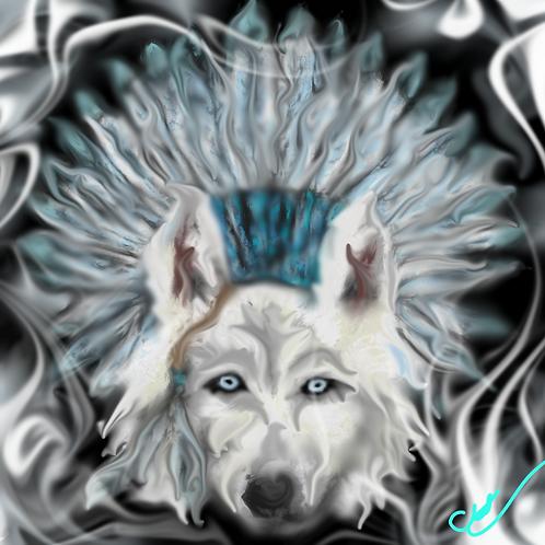 Chief White Wolf Print  8 x 10
