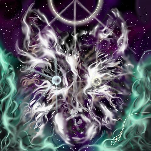 Cosmic Wolf  Print 8 x 10