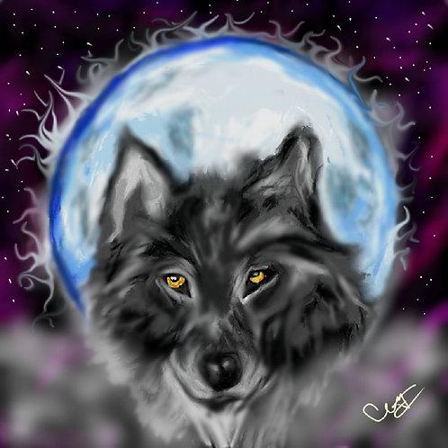 The Gaze Wolf Print 8 x 10