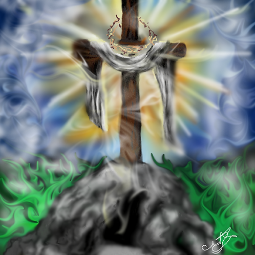 Easter Cross Print 8 x 10