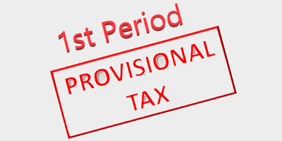 Tax: Provisional 1st period