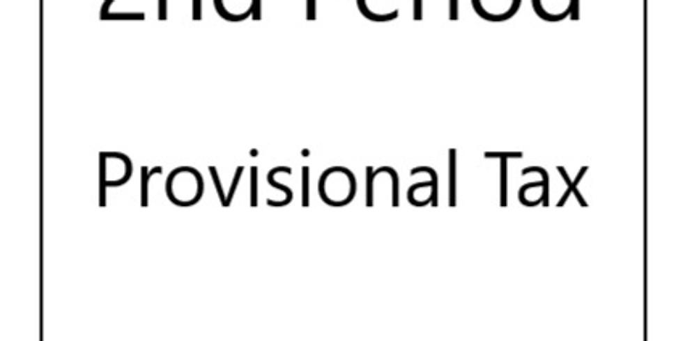 Tax: Provisional 2nd period