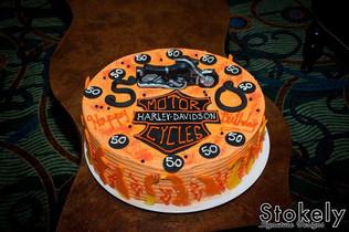 Harley Davidson Motorcycle birthday cake