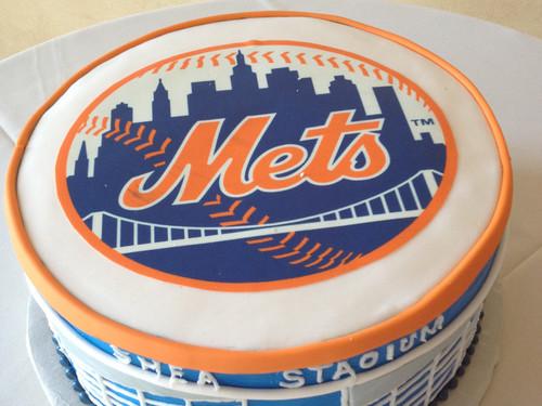 New York Mets grooms cake