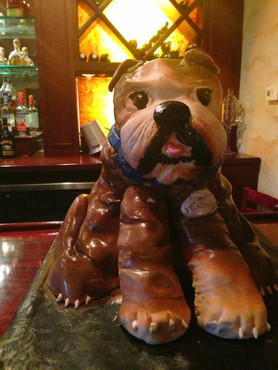 Bulldog Sculpted grooms cake