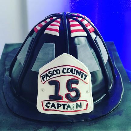 Captains Fire Helmet Cake