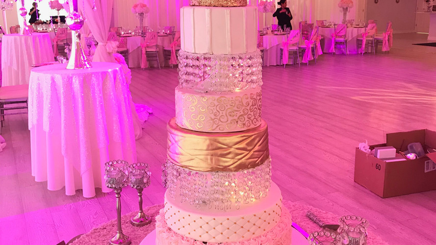 Blush Pink Wedding Cake