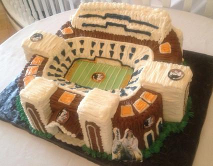 Seminole Indians stadium grooms cake