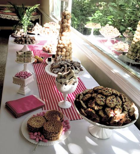 Italian wedding dessert bar