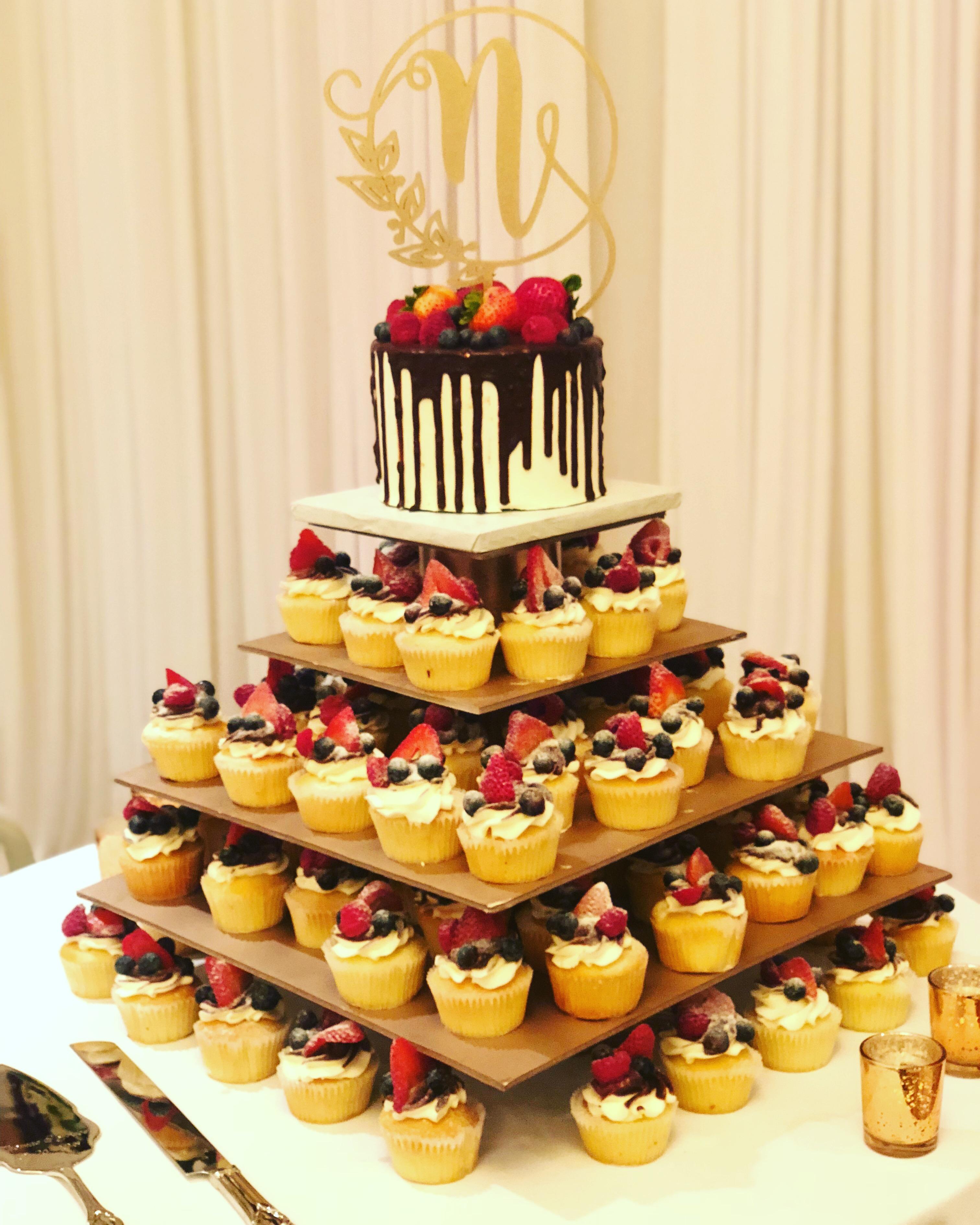 Wedding Fruit Cupcakes
