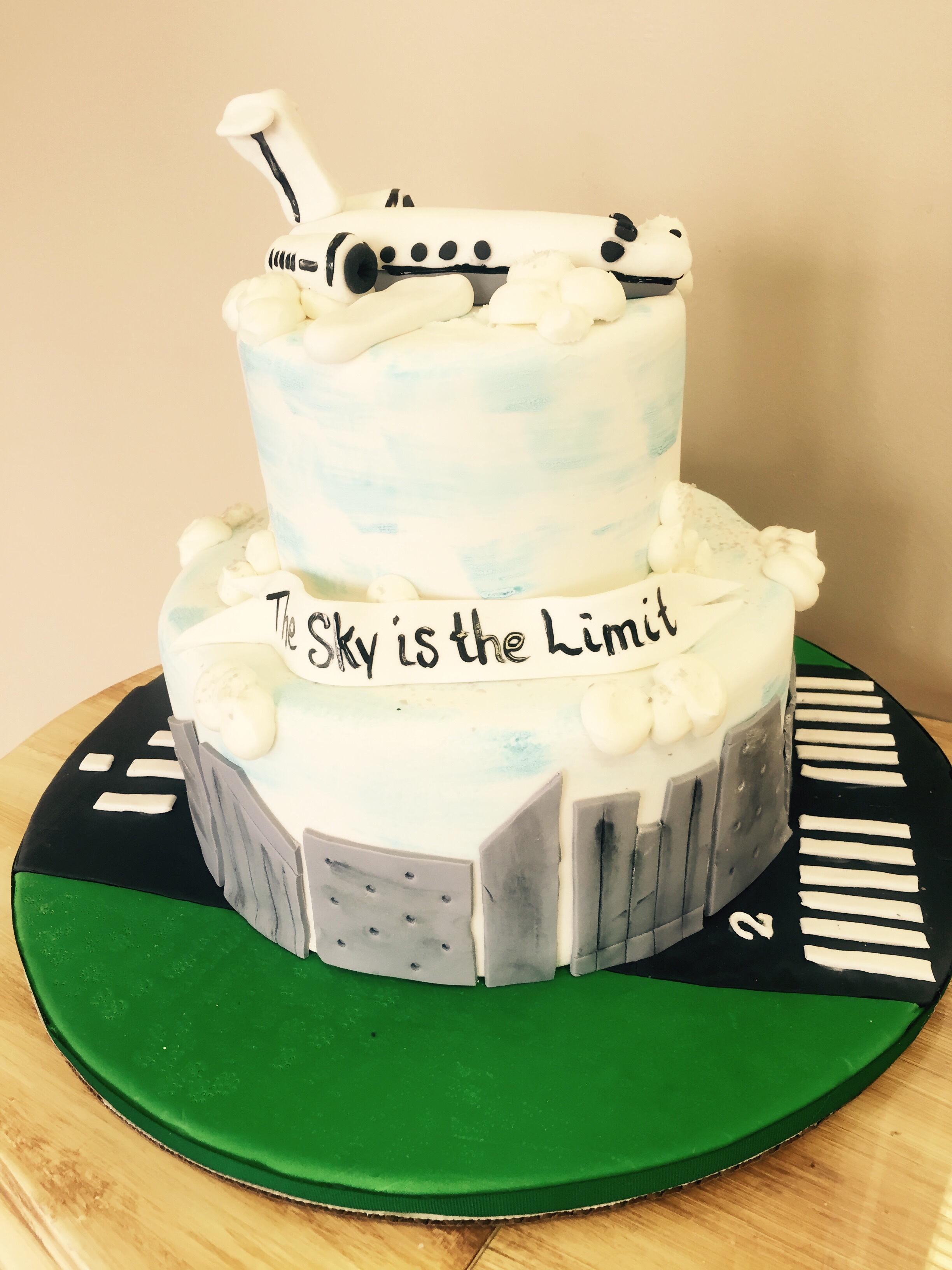 Airplane Graduation Cake