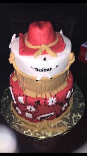 Paisley Cowboy birthday cake